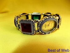 CHARMING Vintage Ecclissi 32S11 Sterling Multi-opaque Gemstone Stretch Watch