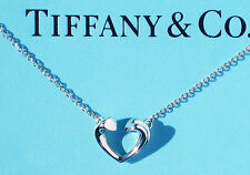 Tiffany & Co Silver Paloma Picasso Tenderness Small Heart Necklace.