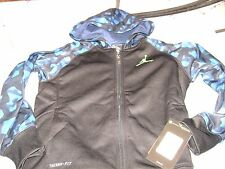 JUMPMAN HOODIE JACKET BOYS  SIZE 7- 8  SMALL NEW  $60 CAMO BLACK & BLUE NICE