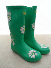NEXT GREEN DAISY FLORAL WELLINGTON BOOTS WELLIES SIZE 5 NEW
