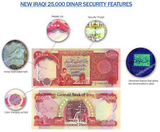 SALE! 25,000 IRAQI DINAR! (1) 25,000 NOTE CIRCULATED! AUTHENTIC GUARANTEE IQD