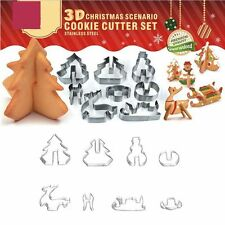Tool Metal Fondant Cookie Christmas Stainless Steel 3D Cake Cutter Mold