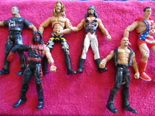 Lot of 6 WF World Wrestling Federation Jericho Kane Rock Stone Cold Kurt Angle +