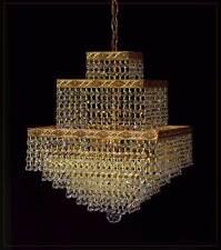 Orientalischer quadratischer Kronleuchter mit echtem Kristall. Gold o.Silberfar.