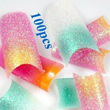 Nail Tips Stunning Mix Glitter Colors Style False French Acrylic Nail Art Tip LW