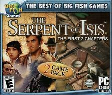 THE SERPENT OF ISIS Chapter 1 & 2 Hidden Object PC Game CD-ROM NEW