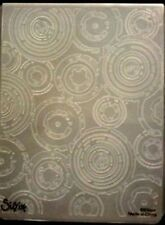 Sizzix  Large Embossing Folder RETRO CIRCLES TIM HOLTZ fits Cuttlebug & Wizard