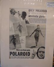 Original Vintage Advertisement mounted ready to frame Polaroid sunshield 1952
