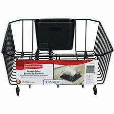 Antimicrobial Dish Drying Rack Drainer Dishes Organizer Storage Small Kitchen