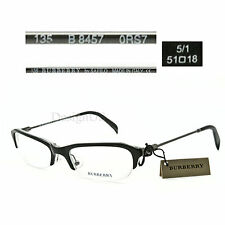 Burberry B 8457 0RS7 Half-Rimless 51/18/135 Eyeglasses Rx Made in Italy - New