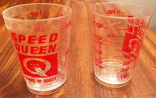 Vintage Speed Queen Advertising Measuring PLASTIC Cups Ounces Tablespoons