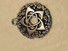 Stainless Steel Hexagram Talisman Amulet Wicca Pendant