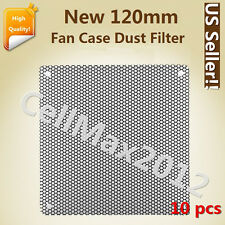 10x 120mm Computer PC Dustproof Cooler Fan Case Cover Dust PVC Filter Mesh