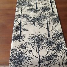 Laura Ashley  Silver Birch  Charcoal fabric Table Runner. Fully Lined. New!