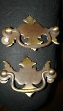 2 Vintage Drawer Handles-Designer-3x2inches-Metal