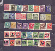 GERMANY - 40 STAMPS ON INFLATION etc. - MH - C 93