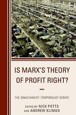Heterodox Studies in the Critique of Political Economy: Is Marx's Theory of...