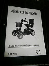 Owners Manual for CTM Mobility Scooter HS-730 & HS-740 Series