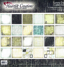 Sunny Days Paper Collection Heartfelt Creations - 24 x double sided 12 x 12