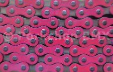 "Yaban old school BMX or single speed bicycle chain 1/2"" X 1/8"" PINK and NICKEL"