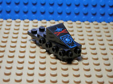 LEGOS Black Cockpit Space Nose w/ Aquazone Aquashark Blue Shark w/ Red X Pattern