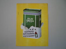 advertising Pubblicità 1966 OLIO SASSO