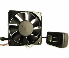 120mm 38mm New Case Fan Kit 200CFM 110V 115V 120V AC Adapter Ball Bg 1332*