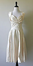 NWD 14 $175 ivory satin dress Modcloth Aisle Be There retro wedding vintage 50s