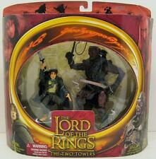 LORD OF THE RINGS~TWO TOWERS~PIPPIN W/SWORD & ELVEN CLOAK~UGLUK W/SWORD & WHIP