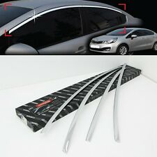 Chrome Window Garnish Trim Line Cover For Kia RIO 4D Sedan 2012 2016