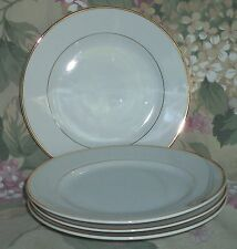 4 NEW Japan Vtg.SONNET Fine China BREAD/BUTTER PLATES  White/Gold - DISCONTINUED