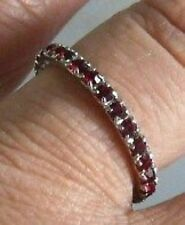 BAGUE ALLIANCE PIERRE DE VERRE DIAMANT RUBIS T 52 * 4317