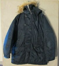 V7029 Military Type N-3B Size 44 Blue Flying Man's Jacket Fur Hood