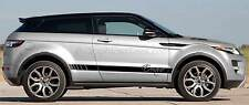 Range Rover Evoque Custom Side Stripe Stickers Graphic Decals - Various Colours