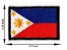 Philippine Flag Nation Football Sport Size M Logo Applique Iron on Patch Sew