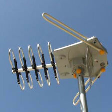 HDTV Outdoor Over The Air OTA High Gain Amplified Antenna UHF/VHF DTV 150 Miles