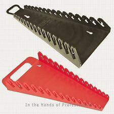 ERNST Mfg 5088 RD + 5189 BK GRIPPER 15 Wrench Organizer Set -  YES 1 Each   NEW