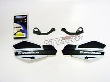 POWERMADD HANDGUARDS YAMAHA 700 RAPTOR HAND GUARDS WHITE BLACK HAND GUARD MOUNTS