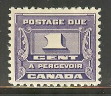 Canada #J11, 1934 1c Postage Due - Third Postage Due Series, Unused Hinged
