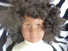 "18"" TOLLYTOTS tolly TOTS Doll ETHNIC Beautiful AFRICAN American/BLACK Doll EUC"