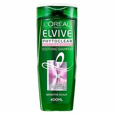 6 x L'Oreal Elvive Phytoclear Anti Dandruff Soothing Shampoo Sensitive 400ml
