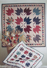 'Autumn Leaves' Mumms The Word Quilt Pattern,  Free US Shipping