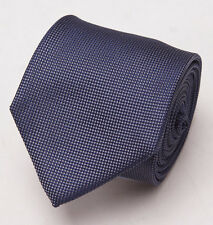 NWT $225 BATTISTI NAPOLI Navy Blue-Gray Subtle Woven Pattern Silk Tie Handmade