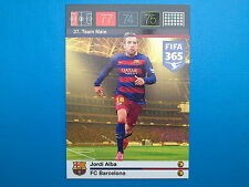 Panini Adrenalyn XL Fifa 365 Card n. 37 Team Mate Jordi Alba Barcelona