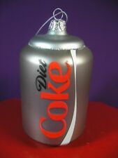 DIET COKE COCA - COLA  X-MAS ORNAMENT BY KURT ADLER NEW IN PACKAGE