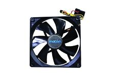14CM 140mm Black Fan Cooler Fan Case PC Computer Cooling 3 Pin + 4 Pin Molex