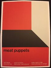 """Youth Of Today & Meat Puppets .2 Sided Rock Concert Mini Poster Op Art 14"""" x 10"""""""