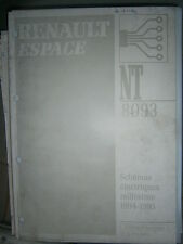 Schémas électriques ESPACE 1994 1995 NT8093