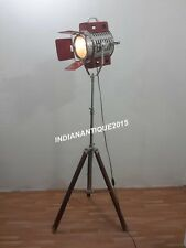 ROYAL THEATER SEARCHLIGHT LEATHER SPOT LIGHT FLOOR LAMP TRIPOD STAND