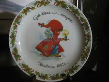 CHRISTMAS PLATE 1972 by GIGI GOD BLESS US...EVERYONE